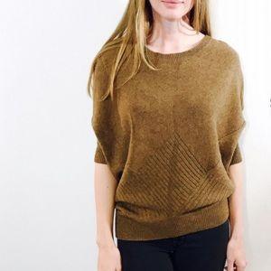 Vince. Yak & wool blend batwing patterned sweater